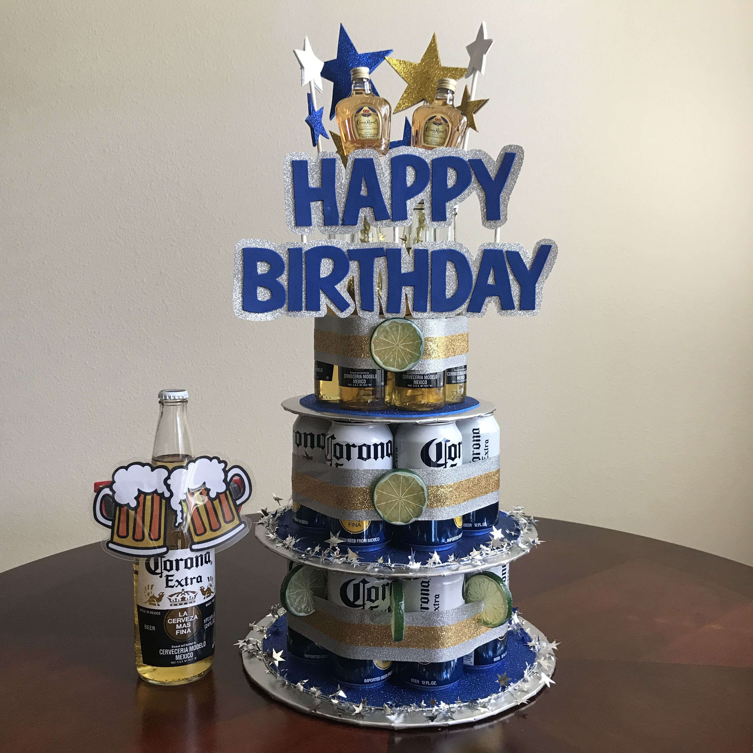 Handmade Beer Can Cake For The Man That Loves His Corona's