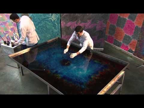 paper marbling with liquid starch suminagashi paper marbling diy japanese water marbling how to