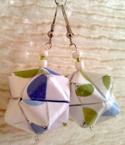 Earrings Origami Earrings Octahedral Energy Earrings by DecorCharm, $10.99