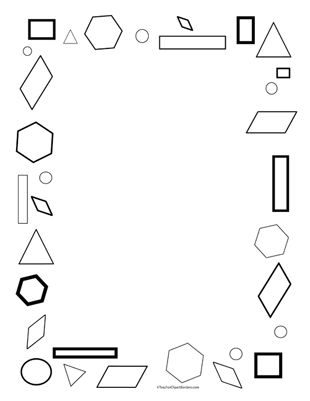 Math Border Clipart Black And White Geometric shapes