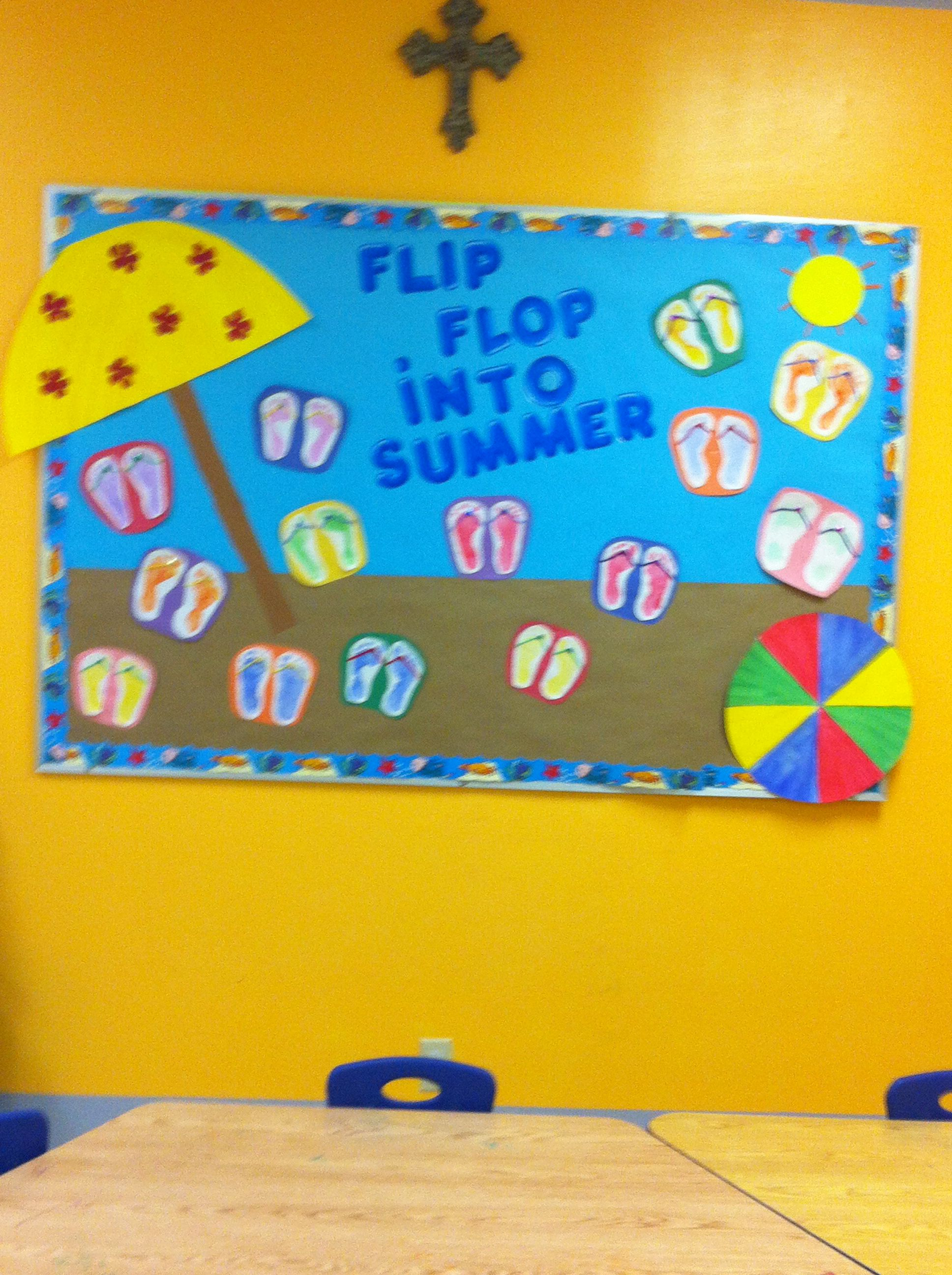 Summer Themed Classroom Decorations : Cute for countdown to summer bulliten boards
