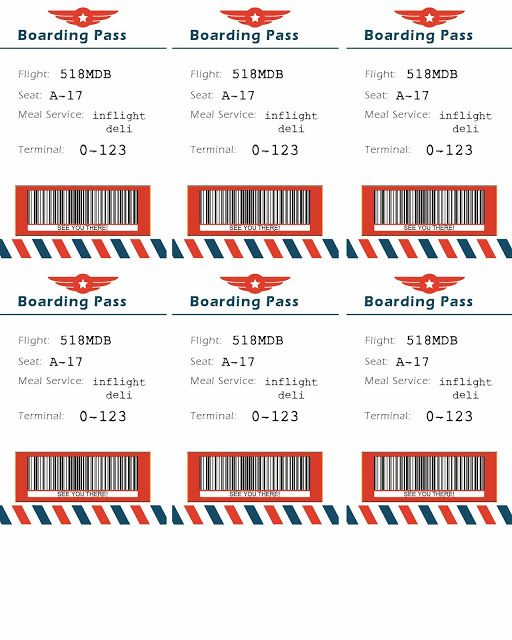 Bringing Home Ezra American Airlines airplane themed party - fake airline ticket maker