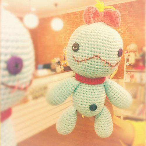 Small Amigurumi Heart Pattern : Amigurumi Scrump Lilo & Stitch Crochet Doll by Nikki ...