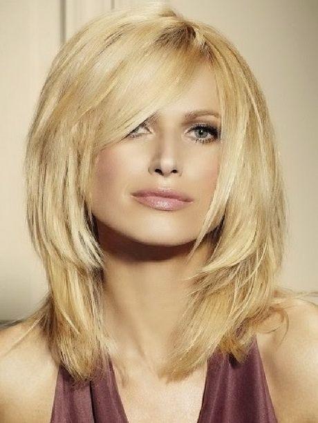 Neue Frisuren Halblang Haare Pinterest