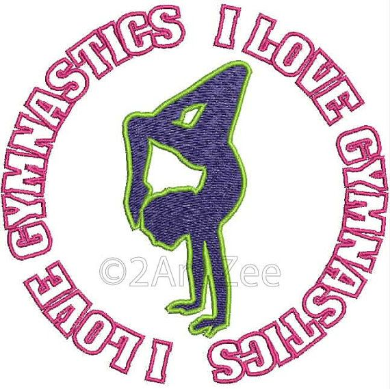 I Love Gymnastics Machine Embroidery Design | Embroidery