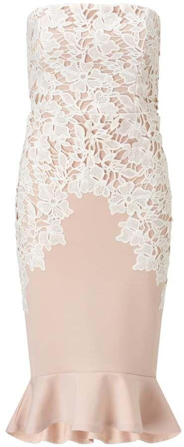 Lipsy Cocktailkleid / festliches Kleid cream | Fesch Anziehen ...