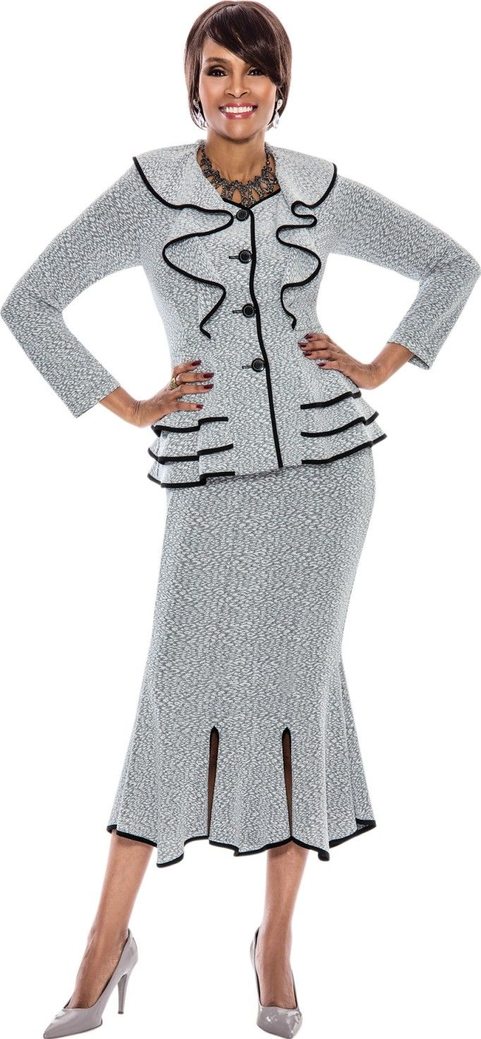 Stunning 2 Piece Skirt Suit In Fabric Great Church Suit Or Special
