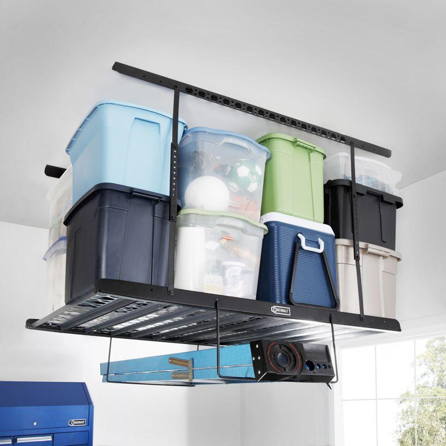 Shop Kobalt Metal Overhead Storage Kit At Lowes Com Get Rail