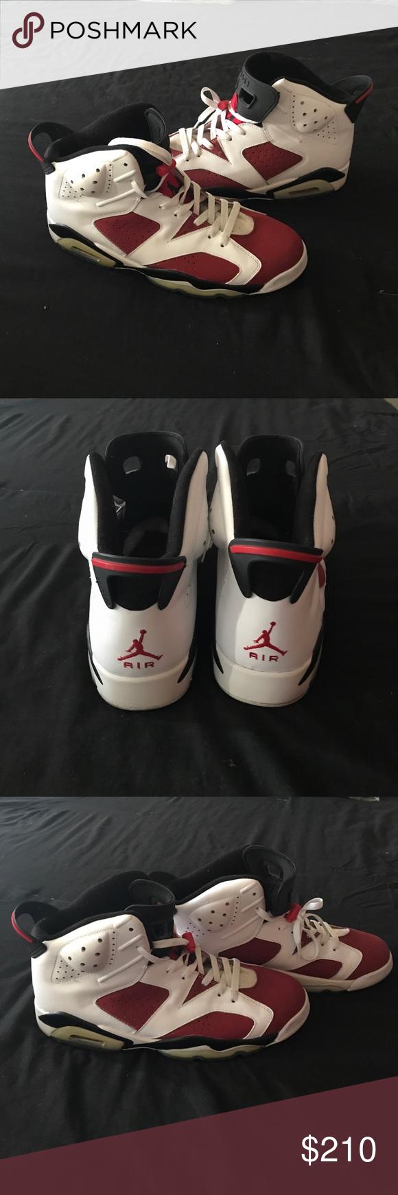 new product fe02e 26773 Men s Nike Air Jordan Retro 6 White Carmine-Black My cousin got these for