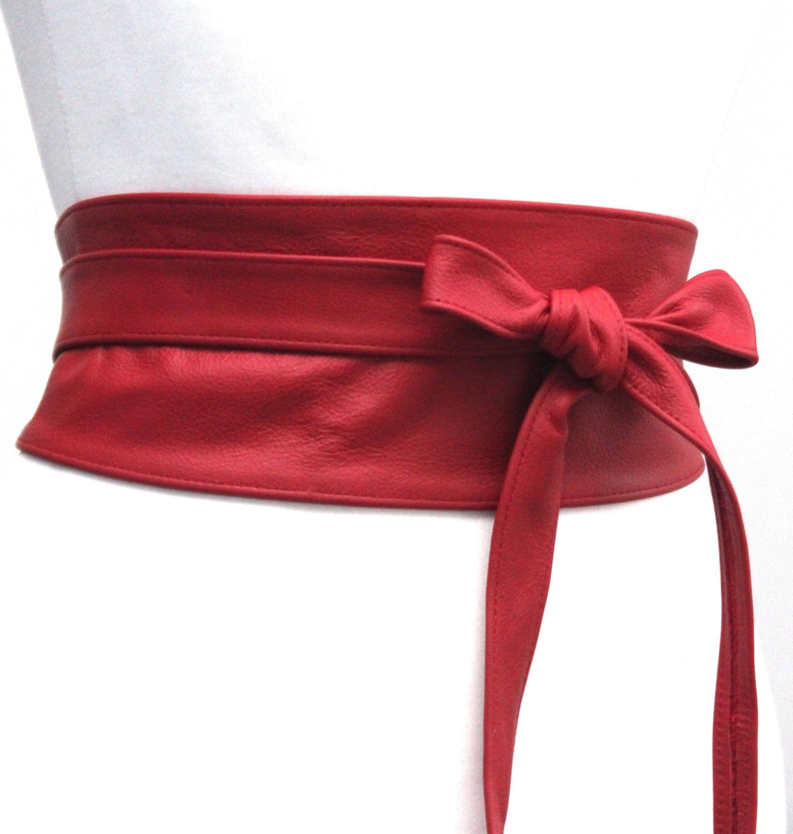 etsy shop: Red Leather wrap Belt | Red Corset Belt