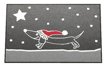 Dackelparadies Schmutzfangmatte Weihnachtsdackel Fussmatte Dackel Bommel Machen
