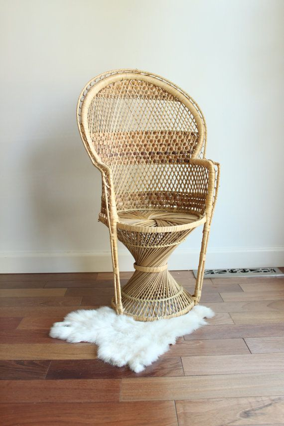 Toddler Size Wicker Peacock Chair By Louloumint On Etsy