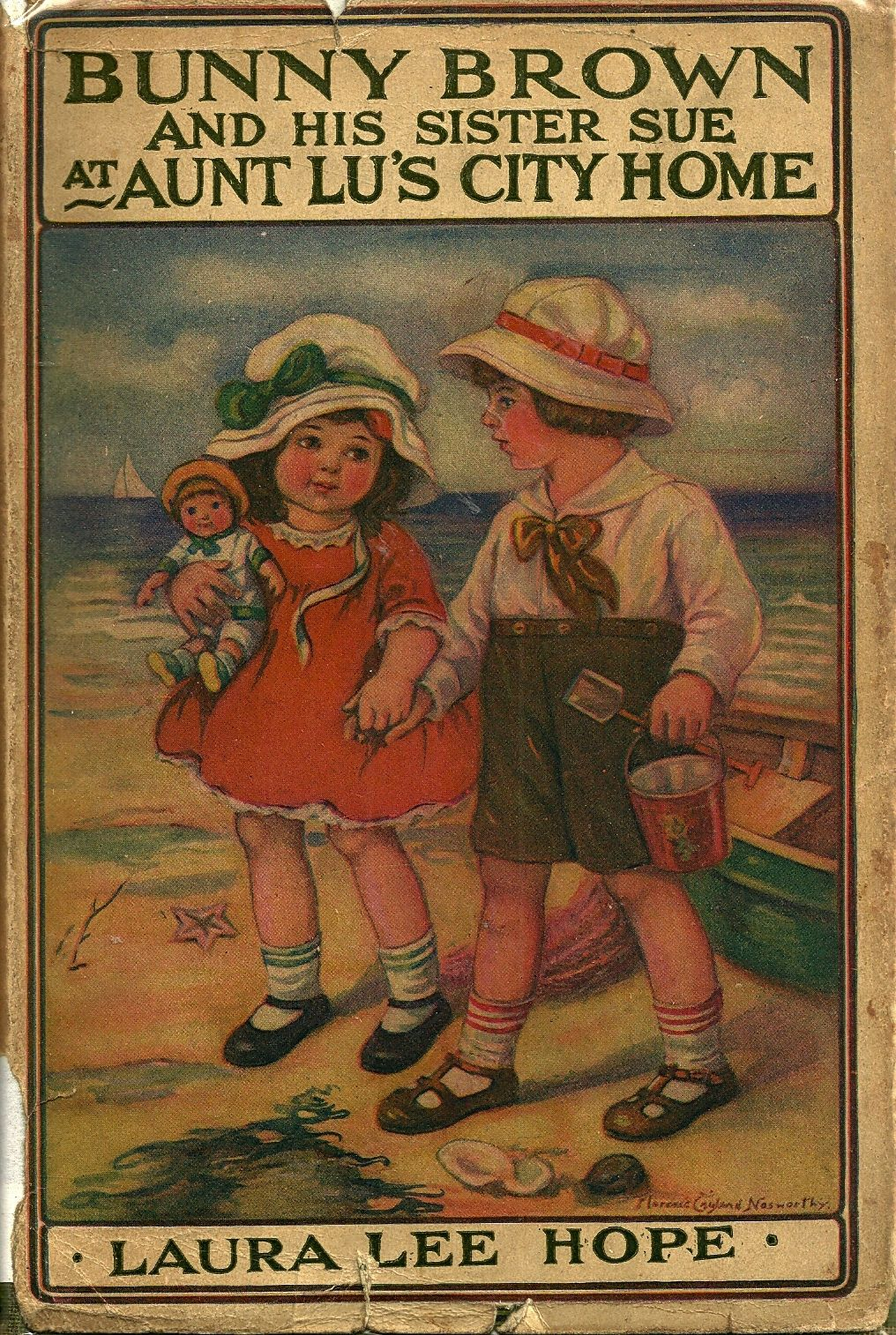 "Bunny Brown and his Sister Sue at Aunt Lu's City Home"", by Laura Lee Hope 1916"