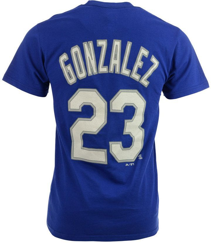 Majestic Men's Short-Sleeve Adrian Gonzalez Los Angeles Dodgers Player T-Shirt