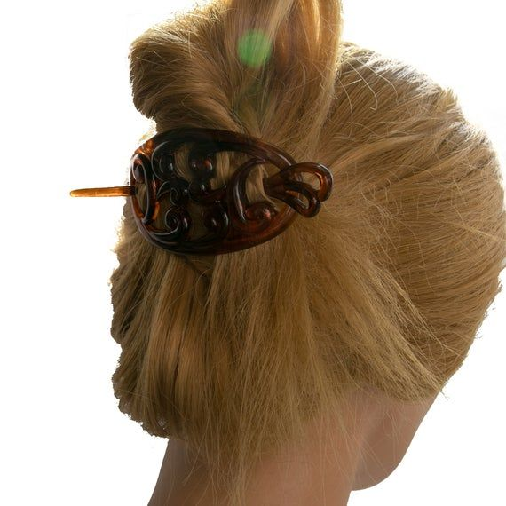 Scarf holderin 9x5   Artikel: HA2334Größe: 9x5Farbe: tortoise marbled (Col.Nr.:M709)Material: AcetatMADE IN GERMANY!
