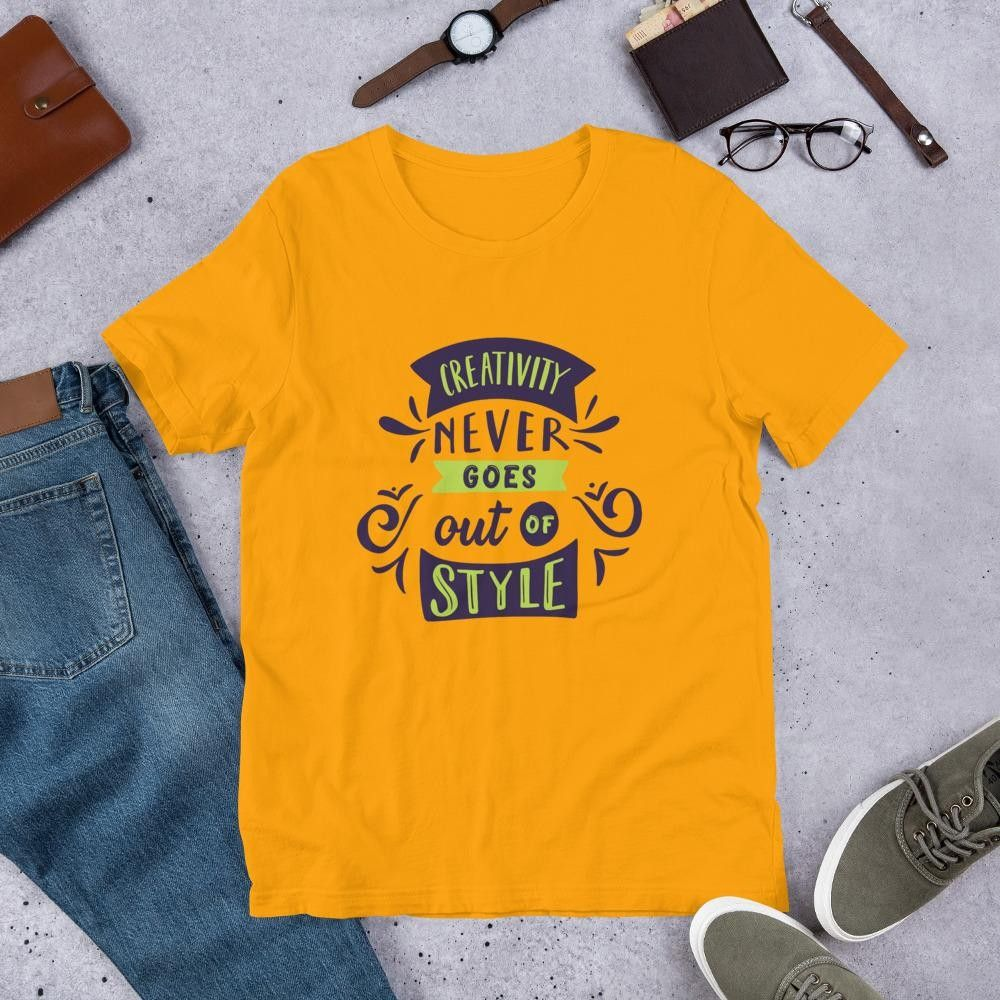 Gold Unisex T-Shirt Creativity