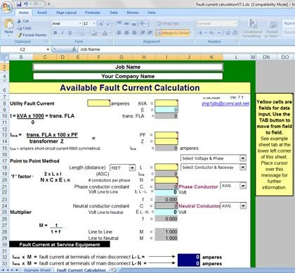 Fault current calculation spreadsheet testing and commissioning 13 basic expressions often used in electrical testing keyboard keysfo Choice Image