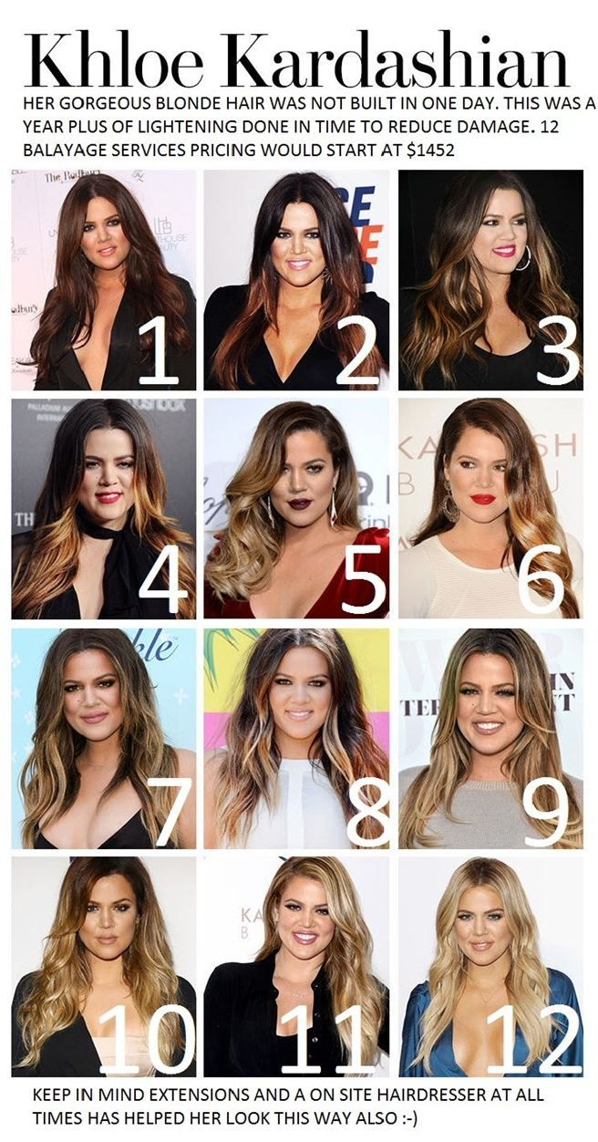 different stages of khloe kardashian s hair color hair your