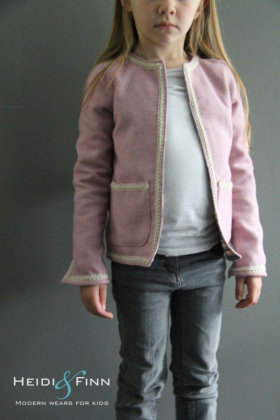 Coco Jacket pattern and tutorial 6-12y holiday jacket coat bolero ...