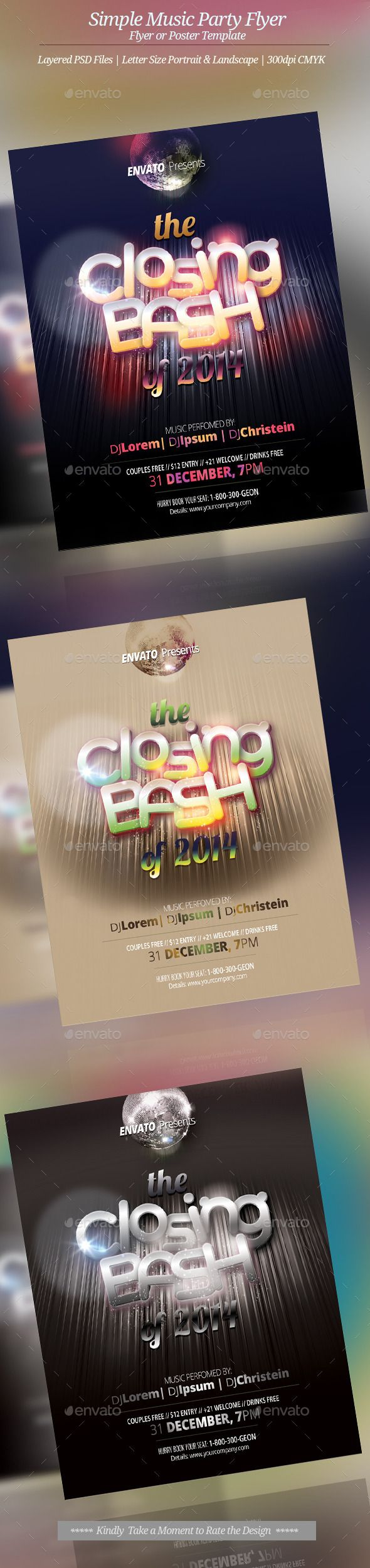 Music Event Flyer Or Poster  Event Flyers Flyer Template And