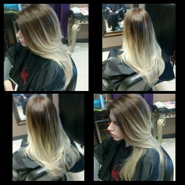 Beautiful Balayage/Flamboyage. Love The New Trend Of Mixing Warm And Cool  Tones Together