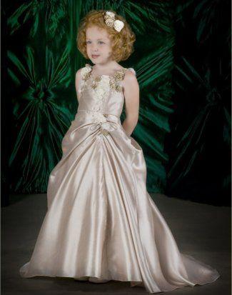Lovely A-line scoop neck floor-length flower girl dress FGDN0025 [SKU FGDN0025] - $91.90 : wedding dresses,prom dresses,bridesmaid gowns