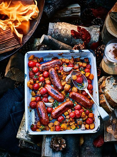 Delicious sausage recipes for bonfire night #bonfirenightfood