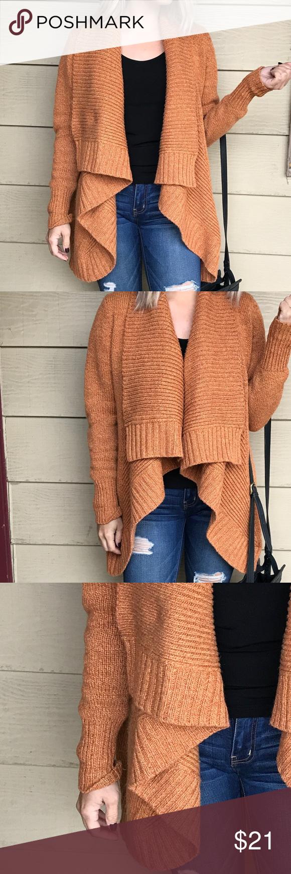 Merona Slouchy Open Front Sweater Cardigan | Orange color ...