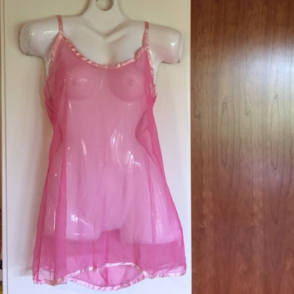 💕PRETTY,FLIRTY & GIRLY💕hp💕see thru coverup💕 Worn twice - pink cover up/ dress - lingerie. Whatever you choose to wear it for ... Just have fun wearing it. Pink satin trim. Size small. @luvsmink - host pick 9/11/15. Pretty,Flirty & Girly party theme. Ritchie Swim Coverups