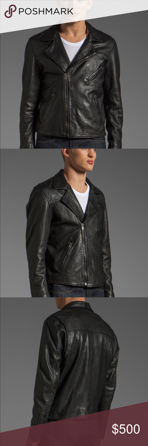 Levi's Made and Crafted Men's Leather Moto Jacket Levi