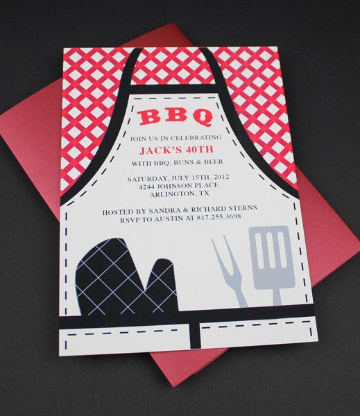 Diy Bbq Apron Invitation Template From Downloadandprint Http