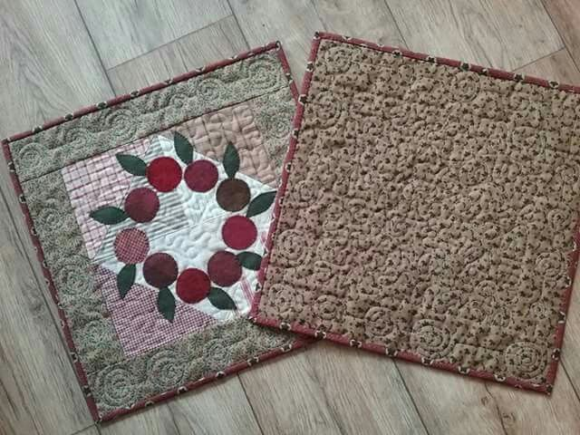 Front and back of Cranberry Wreath by Cheri Payne | Cheri Payne in ...