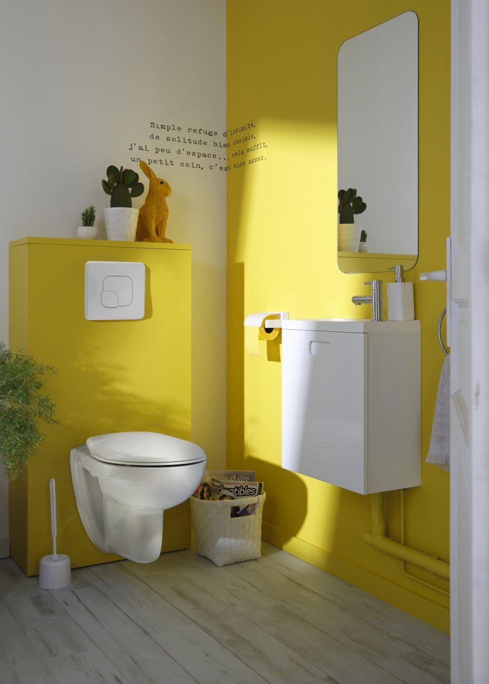 De 25 Idees Pour Decorer Vos Wc Peinture Toilettes Accessoires Salle De Bain Et Salle De Bains Jaune