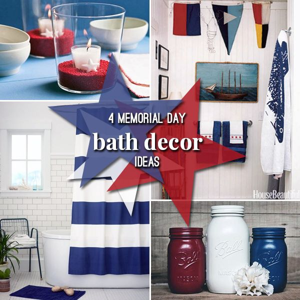 Memorial Day Patriotic Bathroom Decor Design Ideas Blue