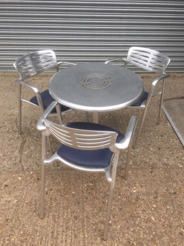 Schon 4 Piece Set Of Jorge Pensi Toledo Chairs U0026amp; Table For Amat With Blue  Seat Pads In Home, Furniture U0026 DIY, Furniture, Chairs   EBay