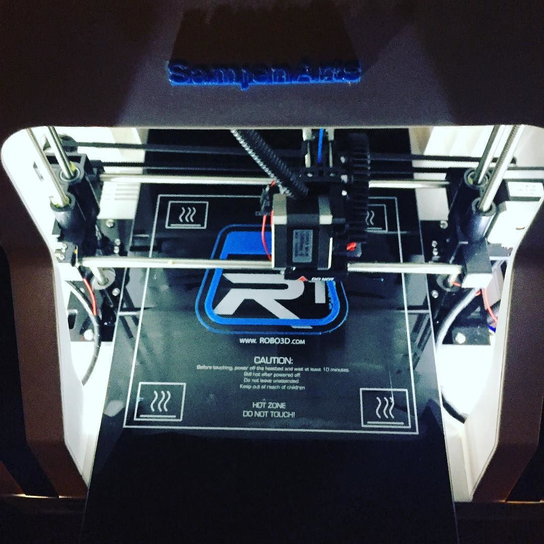 Something we liked from Instagram! #3dprinter number 2 is here and working! #SamjenArts #art #technology #make  #design #robo3d by yellowchick_02 check us out: http://bit.ly/1KyLetq