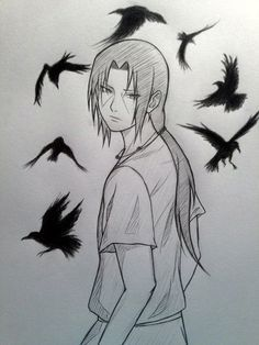 40 Amazing Anime Drawings And Manga Faces Bored Art Itachi Uchiha Art Naruto Sketch Naruto Drawings