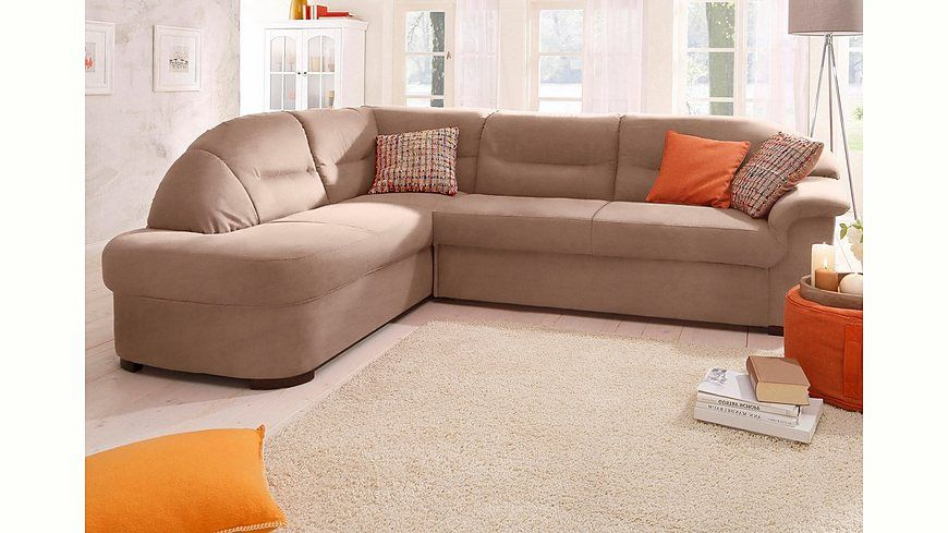 Home affaire Ecksofa »Malta«, wahlweise mit Bettfunktion Jetzt - wohnzimmer orange beige