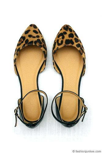 97fc0413387b Pointy Toe Flats with Ankle Strap-Leopard Print. i actually just bought  these at charlotte russe for $9.99!!