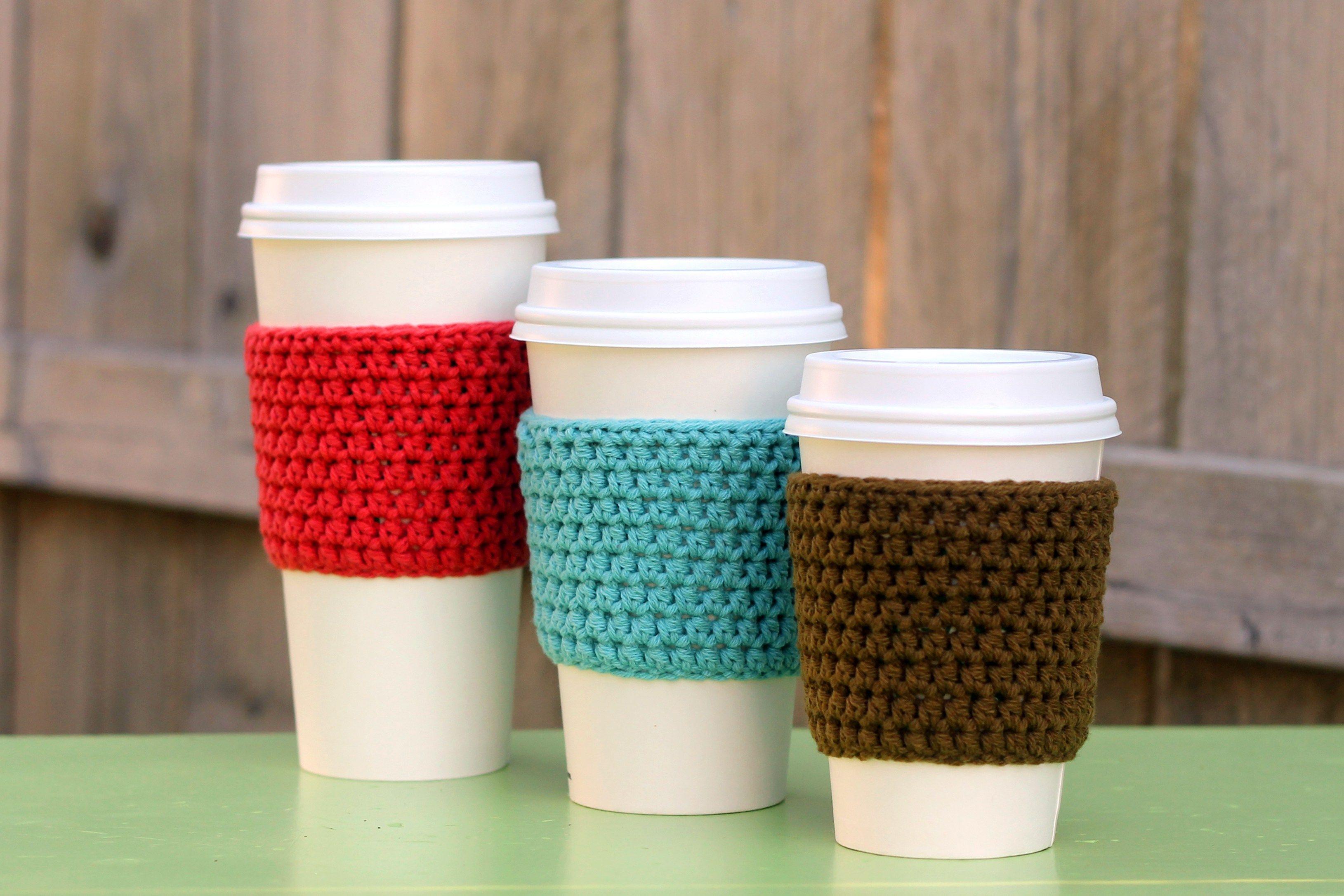 Easy Crocheted Coffee Sleeve Pattern creatve ideas