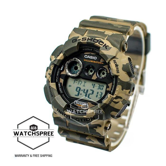 46148de39e6c Casio G-Shock Brown Design Camouflage Series Watch GD120CM GD120CM-5 ...