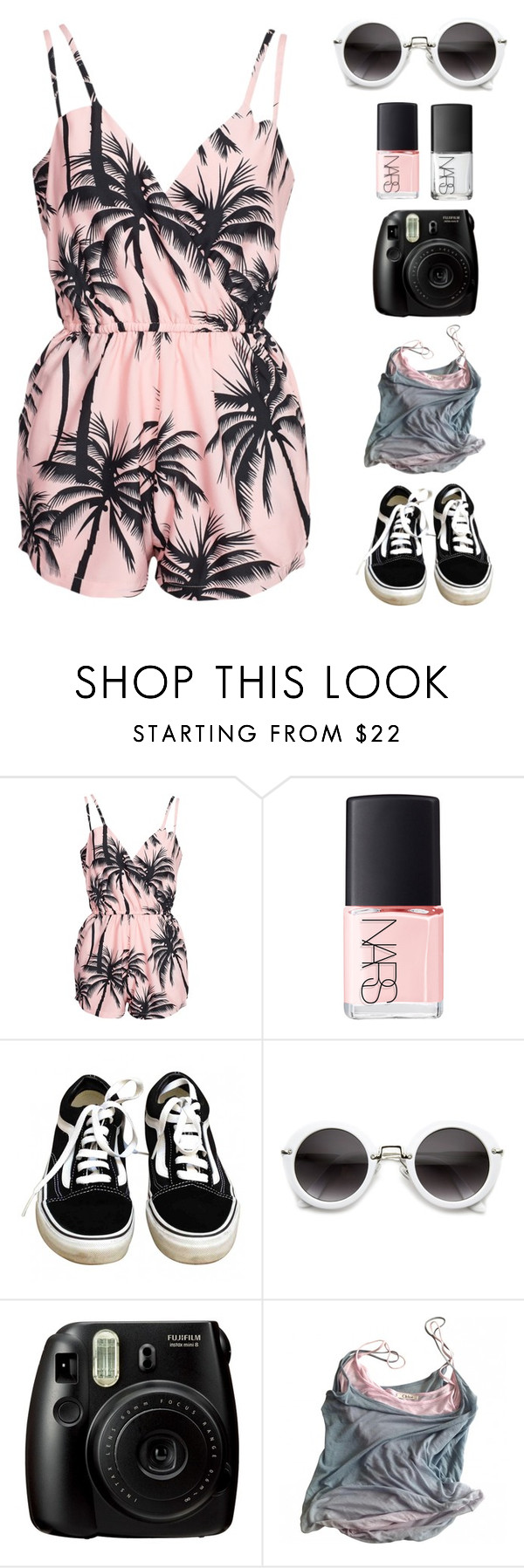 """Spring Sunnies"" by ngocxdo ❤ liked on Polyvore featuring NLY Trend, NARS Cosmetics, Vans and Chloé"