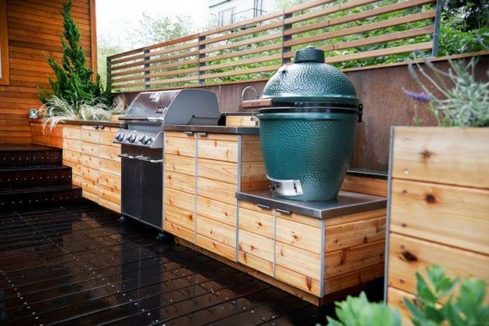▷ 10+ Ideen für Outdoor Grillküche mit modernem Design ...