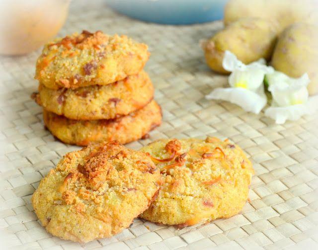 Cookies de queso, patata y cebolla | CocinaconMarta.com