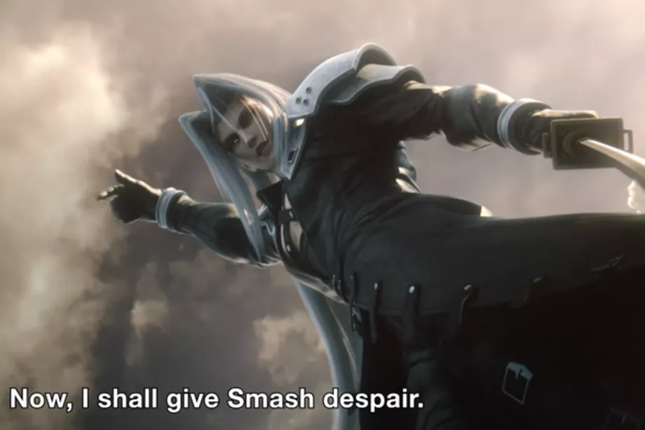 Final Fantasy Vii S Sephiroth Is Coming To Smash Bros Smash Bros Sephiroth Final Fantasy Vii