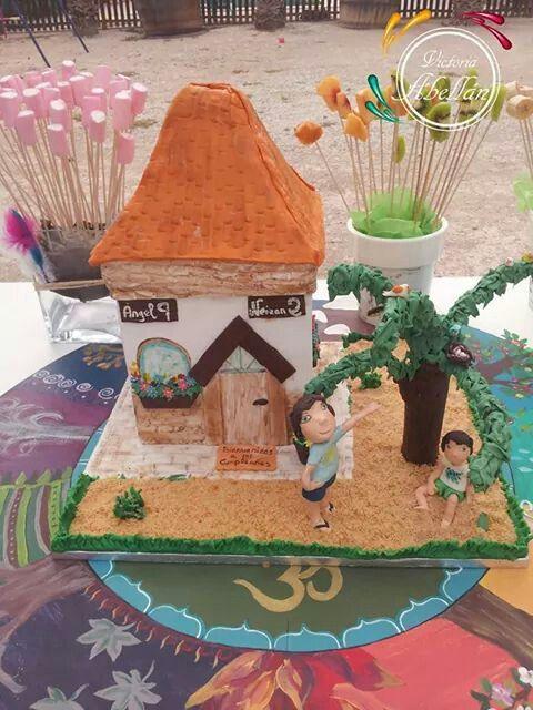 tarta tallada casa de campo