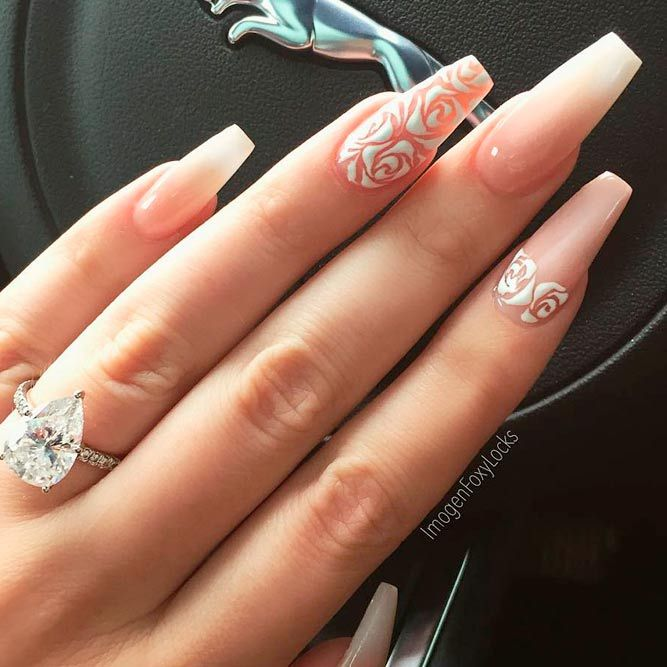 33 Best Long Nail Designs for Glamorous Girls - 33 Best Long Nail Designs For Glamorous Girls Long Nail Designs