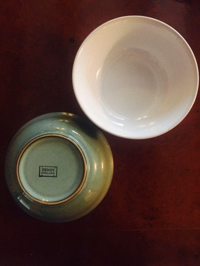 2 Denby Regency Green Cereal Soup Dishes Bowls 6 5 034 Denby Dish Bowl Soup Dish