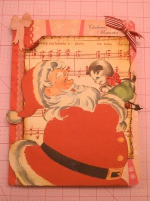 altered composition book for Christmas