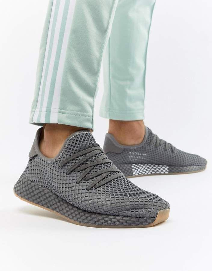 timeless design 9ed26 3daf2 adidas Deerupt Runner Sneakers In Gray CQ2627